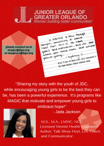 """Sharing my story with the youth of JDC, while encouraging young"